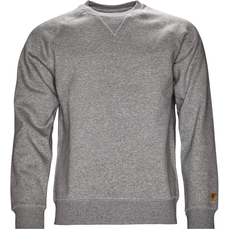 CHASE SWEAT I024652 - Chase Sweat - Sweatshirts - Regular - GREY HTR/GOLD - 1